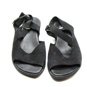 Arche Leather Open  Toe Casual Sandal 41 Black